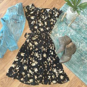 Black and paisley print dress Medium